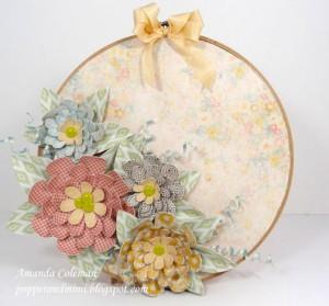 Amanda Coleman spring paper flower embroidery hoop sig