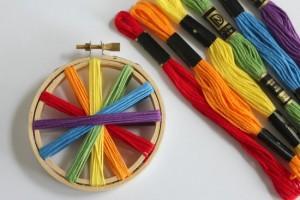 Rainbow-Thread-Embroidery-Hoop-Craft