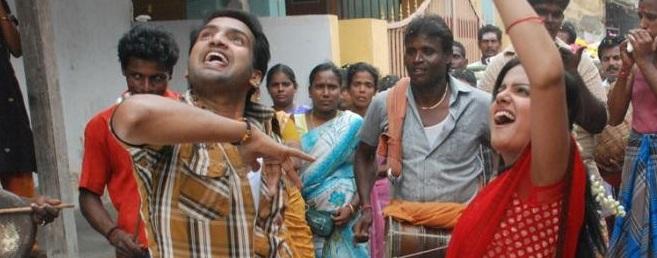 'ராப்' பாடலுக்கு நடனமாடிய சந்தானம்