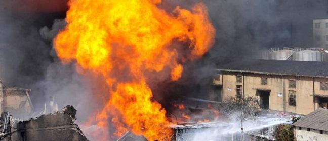 சீன ஆலை வெடி விபத்தில் சிக்கி 65 பேர்  பலி