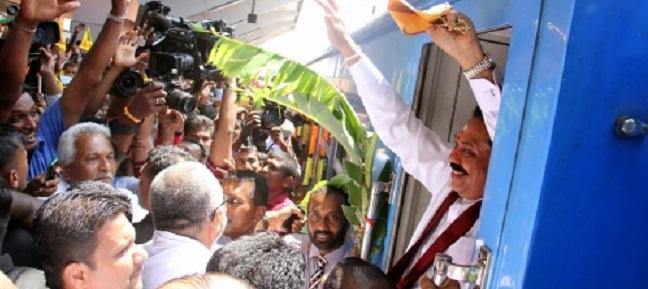 ஜனாதிபதி மஹிந்த ராஜபக்ஸ தலைமையில்  யாழ்ப்பாணம் ரயில் பாதை திறப்புவிழா