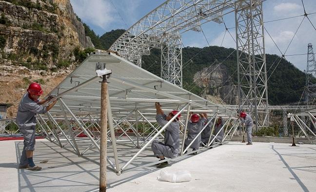 சீனா உலகின் மிகப்பெரிய ரேடியோ தொலைநோக்கி ஒன்றை உருவாக்கி வருகிறது