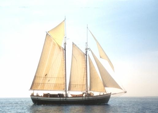 படகுகளில் பாய்மரங்கள் (sails) கட்டப்பட்டிருத்தல்