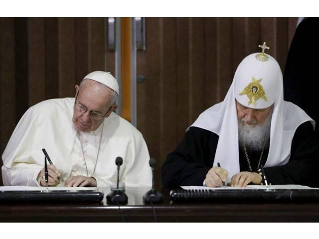 இரண்டு பிரிவு கிறிஸ்தவ தலைவர்கள் சுமார் 1000 ஆண்டுகளுக்குப்பின் சந்திப்பு