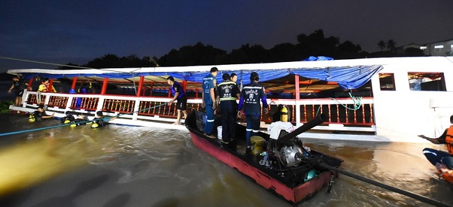 ஆற்றில் சுற்றுலாப் படகு கவிழ்ந்து 13 பேர் பலி | தாய்லாந்து