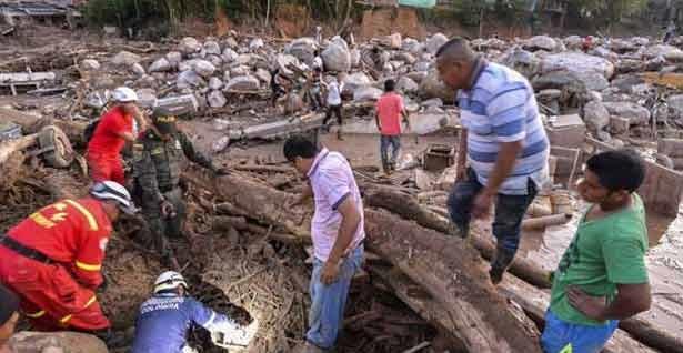 கொலம்பியாவில்  நிலச்சரிவில் சிக்கி  நூற்றுக்கணக்கான மக்கள் பலி