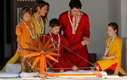 கனடிய பிரதமர் இந்தியாவில் சபர்மதி விஜயம்(படங்கள் இணைப்பு )