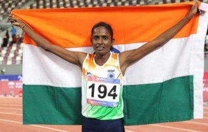 ஆசிய தடகளப் போட்டியில் கோமதி மாரிமுத்து தங்கம்