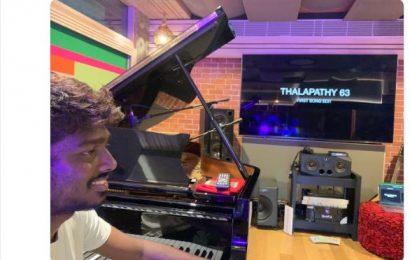 #Thalapathy63 இசையமைப்பு பணி ஆரம்பம்.