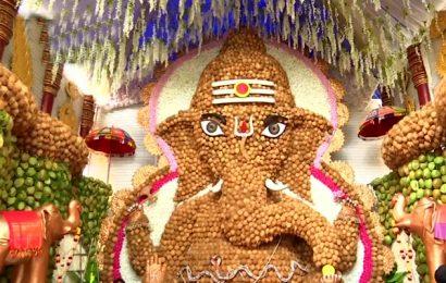 9 ஆயிரம் தேங்காய்களில் உருவான அழகுமிகு விநாயகர் சிலை